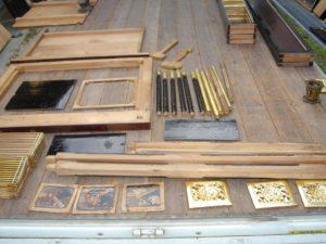 仏壇の洗濯(クリーニング)洗浄中の写真