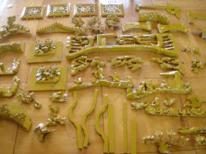 仏壇の洗濯(クリーニング)塗りの写真 彫り物 前様