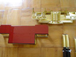 仏壇の洗濯(クリーニング)金箔貼の写真 須弥壇 屋根